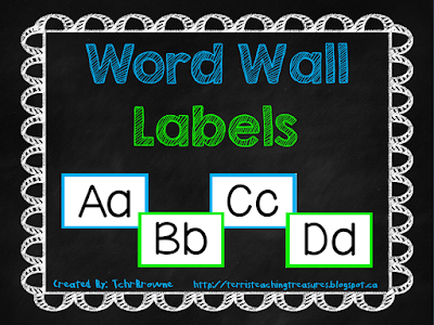 https://www.teacherspayteachers.com/Product/Word-Wall-Labels-Blue-and-Green-874995