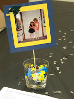 photo centerpieces for reception tables