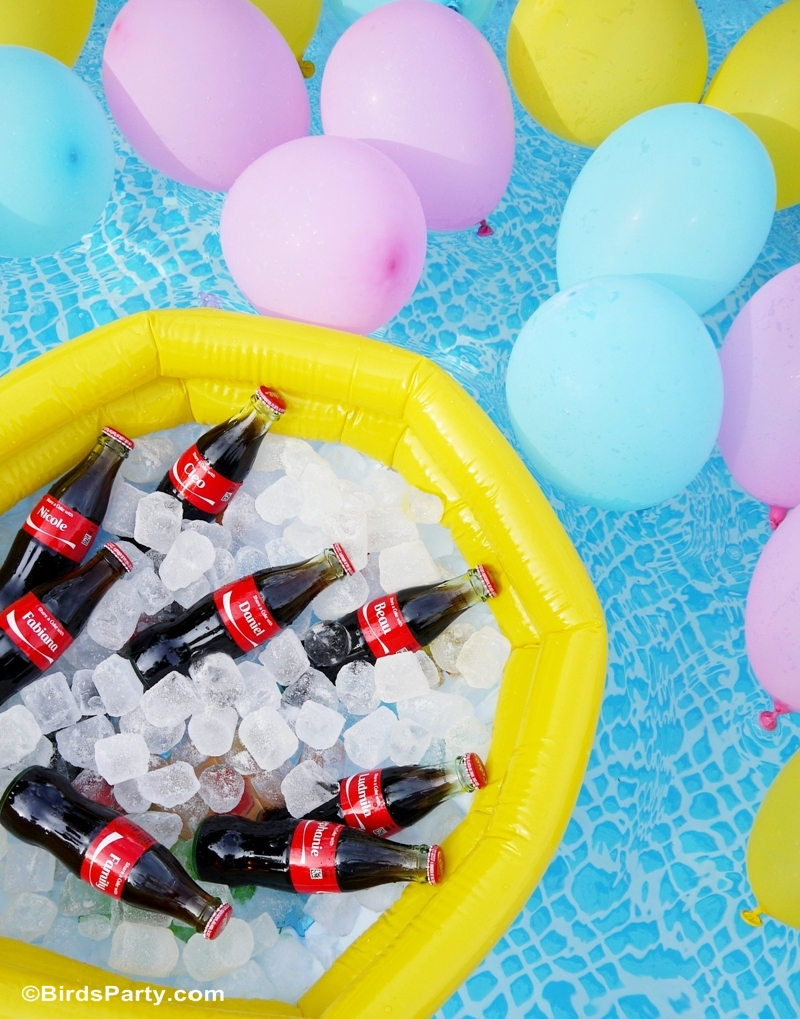 Pool Party Ideas with a DIY Floating Pool Bar #ShareaCokeContest