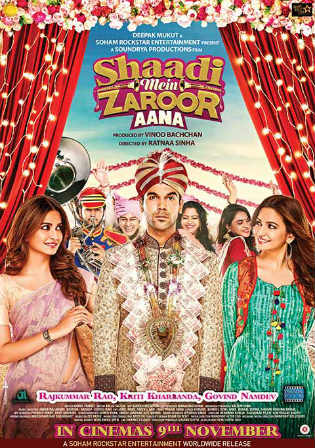 Shaadi Mein Zaroor Aana 2017 HDTV 300MB Full Hindi Movie Download 480p Watch Online Free Worldfree4u 9xmovies