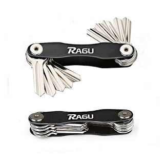 Ragu Key Organizer Key Chain Key Holder Pocket Organizer Compact Design Aircraft Aluminum Material Fit up to 10 Keys