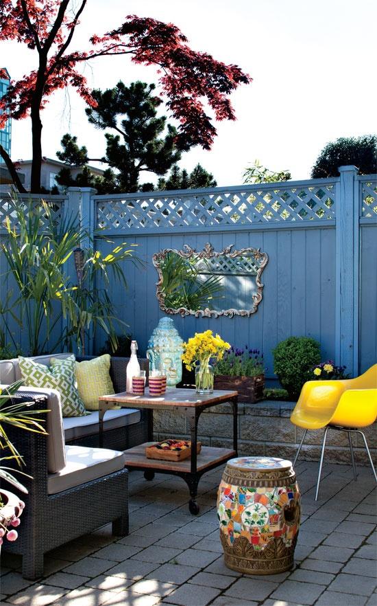 Blog Achados de Decoração, blog de decoração, decoração de varanda, decoração de área externa, decoração de quintal