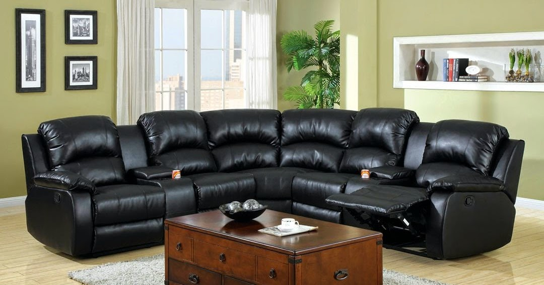 The best reclining sofa reviews sectional reclining sofas for Small space sectional couch