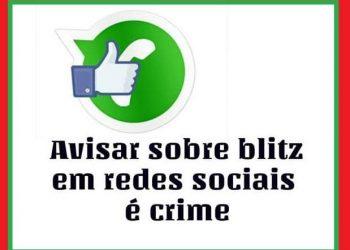 QUEM AVISA VAI EM CANA: A PRF pendeu um homem acusado de divulgar local de blitz em rede sociais