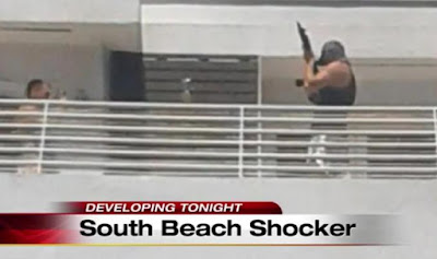 3 maked men including a Muslim were arrested for pointing assault rifle at crowds from rooftop