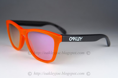 d178b4714fe orange frame black legs + pink iridium  220 lens pre coated with Oakley  hydrophobic nano solution complete set comes with box and microfiber pouch