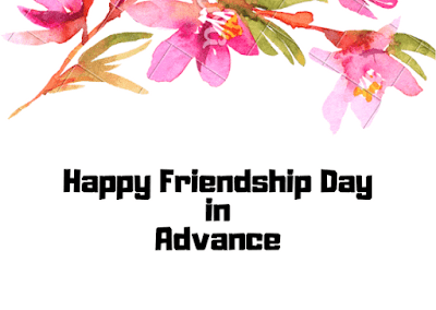 Advance friendship day image