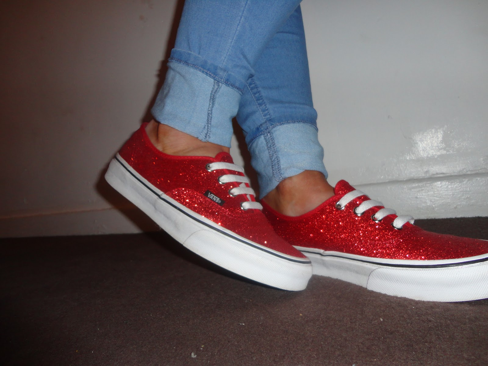 39884abcf984 Red Glitter Vans | Pretty Edgy Things
