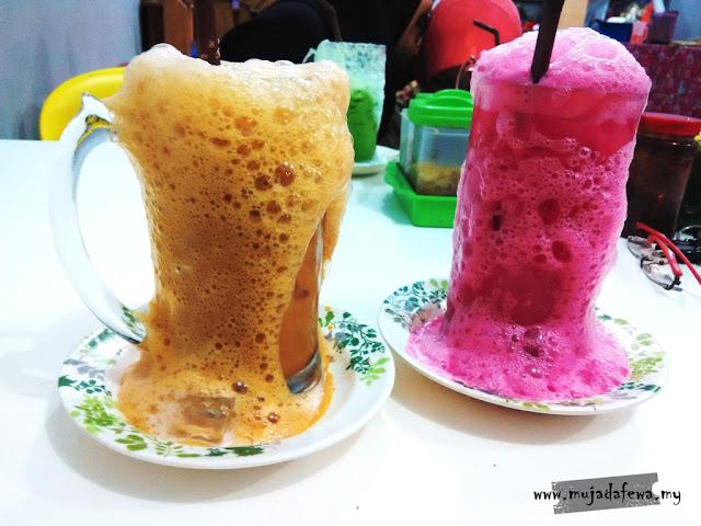 teh beng madu, mee celup golok, tempat makan best ketereh, tempat makan terbaik kelantan