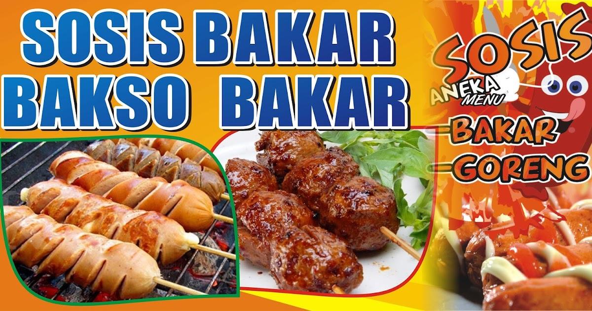 Background Banner Sosis Bakar - desain spanduk keren