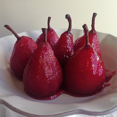 Recipe: Cranberry Poached Pears
