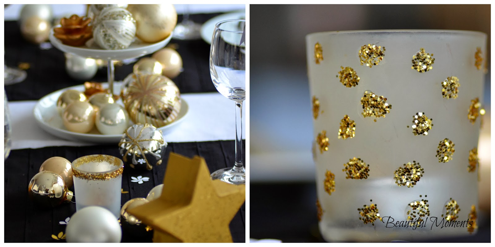 Beautiful Moments Tischdekoideen Fur Weihnachten In Schwarz Weiss Gold