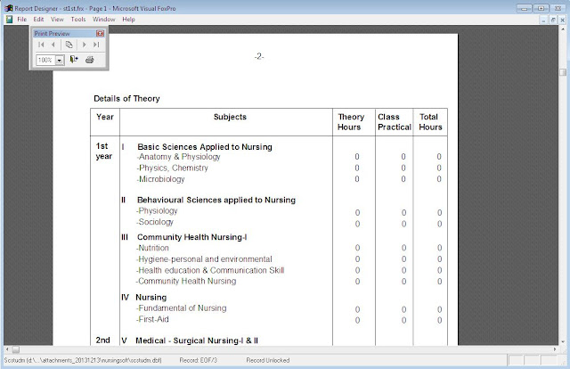 Medical Transcription record report printing Nursing school software