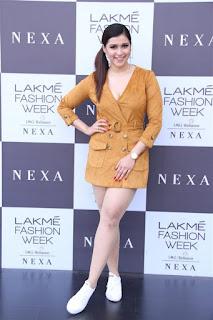 Mannara Chopra Photos at Lakme Fashion Week 2019.
