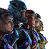PNG Power Rangers MOVIE (2017, Rita Repulsa, Black Ranger, Pink Ranger, Yellow Ranger, Red Ranger, Blue Ranger)