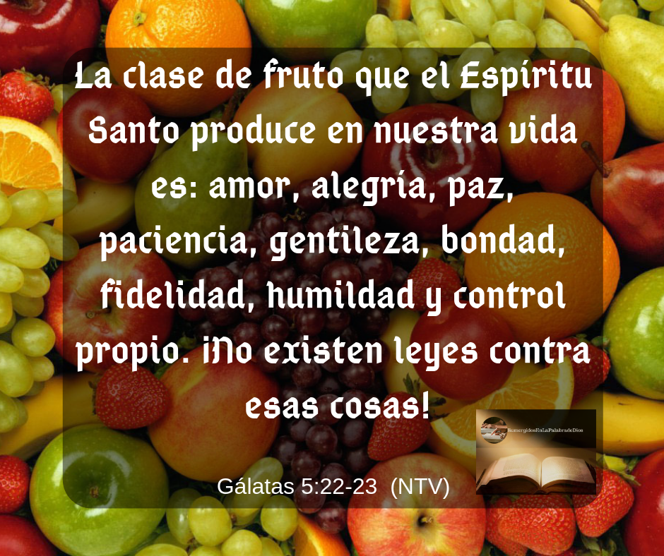 Galatas 5 22 23 Amor Paz Fruto Del Espíritu Santo