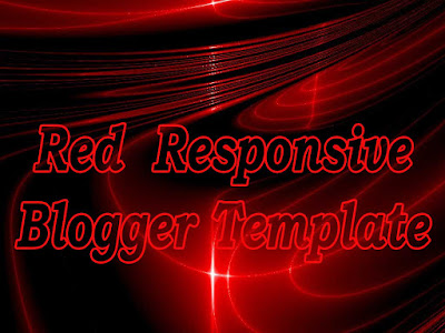red responsive blogger templates