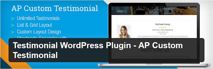AP custom testimonial plugin for WordPress