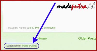 Cara Menghilangkan Link Entri Atom Pada Blog