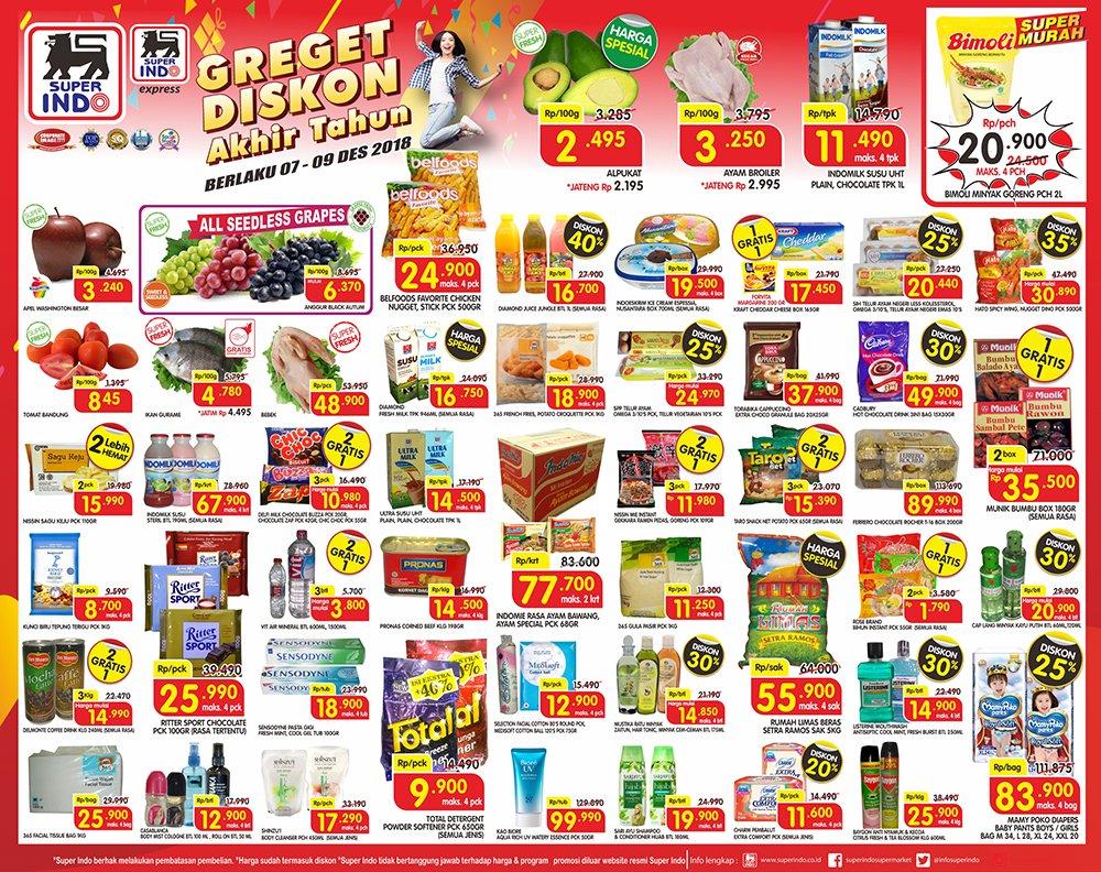 Superindo - Katalog JSM Greget Diskon Periode 07 - 09 Desember 2018