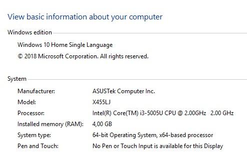 Melihat Spesifikasi Laptop