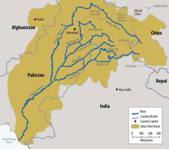 Indus Water Treaty map