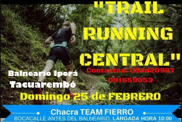 10k y 3k Trail running Central (Balneario Iporá - Tacuarembó, 25/feb/2018)