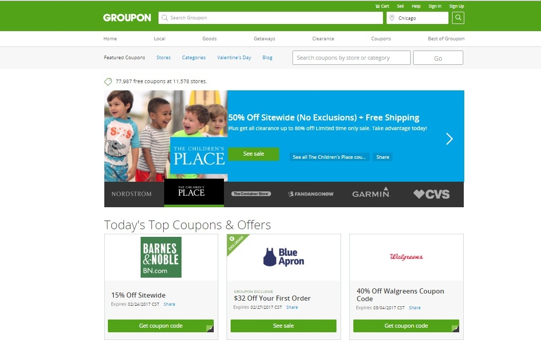 A vast online marketplace, Groupon is a treasure trove of deals on things to eat, drink, buy, and experience. Browse their website or daily emails, and you'll discover special offers on everything from hip new Ethiopian restaurants to stand-up comedy shows to glass-blowing classes.