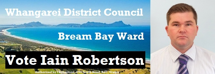 Vote Iain Robertson - Bream Bay Ward | Whangarei District Council