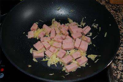patatas con jamón a la crema de soja paso 2