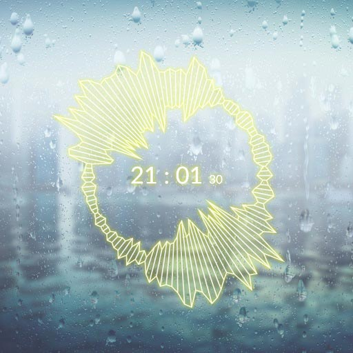 Raindrops Background & Audio Visualisation Wallpaper Engine