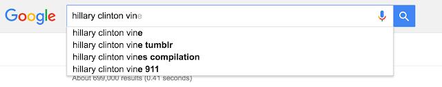 Google recomenda a busca de uma compilação de Vines.