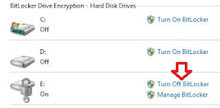 How to disable BitLocker encryption