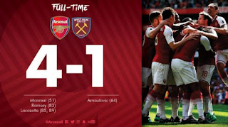 Arsenal vs West Ham 4 - 1  Highlights