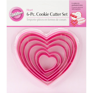 These nesting heart cookie cutters can be used to bake treats as well as be used as tracers for crafts.
