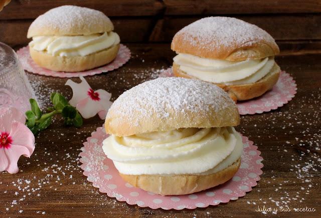 Bambas de nata o merengue. Julia y sus recetas