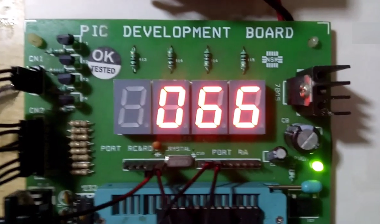 7 Segment Display Interface With Pic Microcontroller Electronics Guru Combination Lock Using Pic16f84