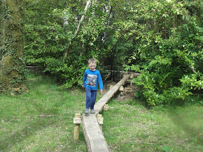 Garden boardwalk for Children at Picton Castle