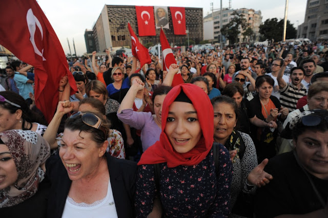 Image Attribute: Women participate in peaceful protest in Taksim Square, Istanbul. Turkey.