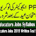PPSC Educators Jobs 2019 Written Test Schedule & Download Roll Number Slip