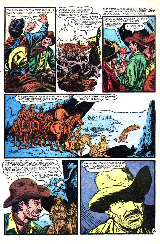 Al Williamson atlas western 1950s golden age comic book page art - Wild Western #54