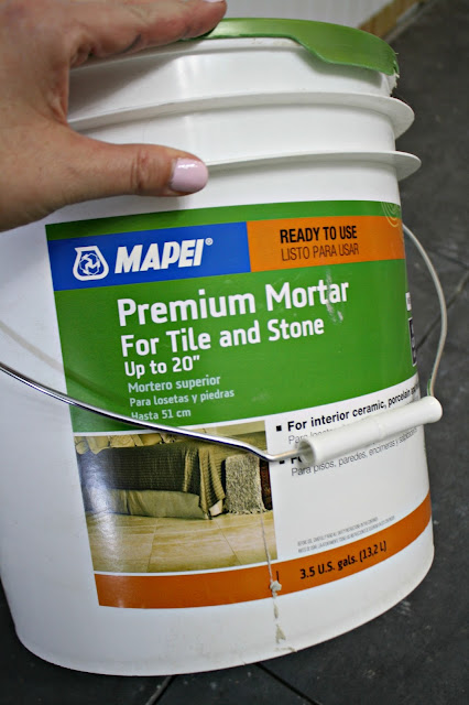 Pre-mixed mortar for tile floor
