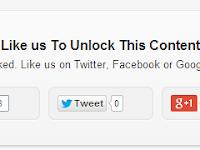 Cara Mudah Membuat Social Content Locker di Blogger