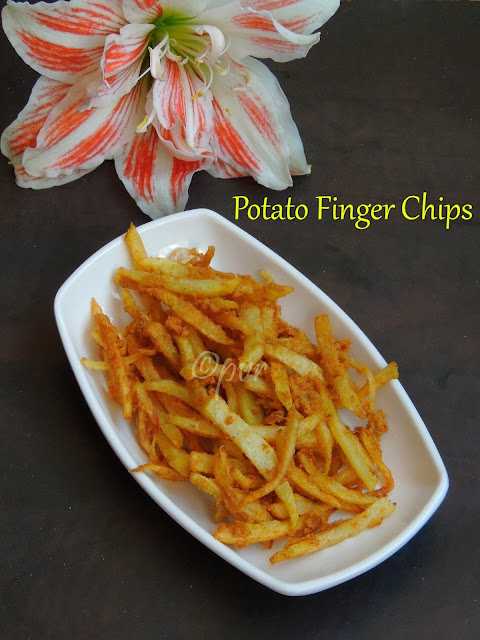 Crispy potato finger chips