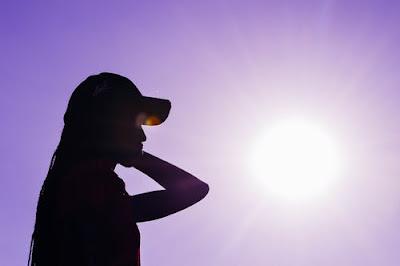 sun and woman