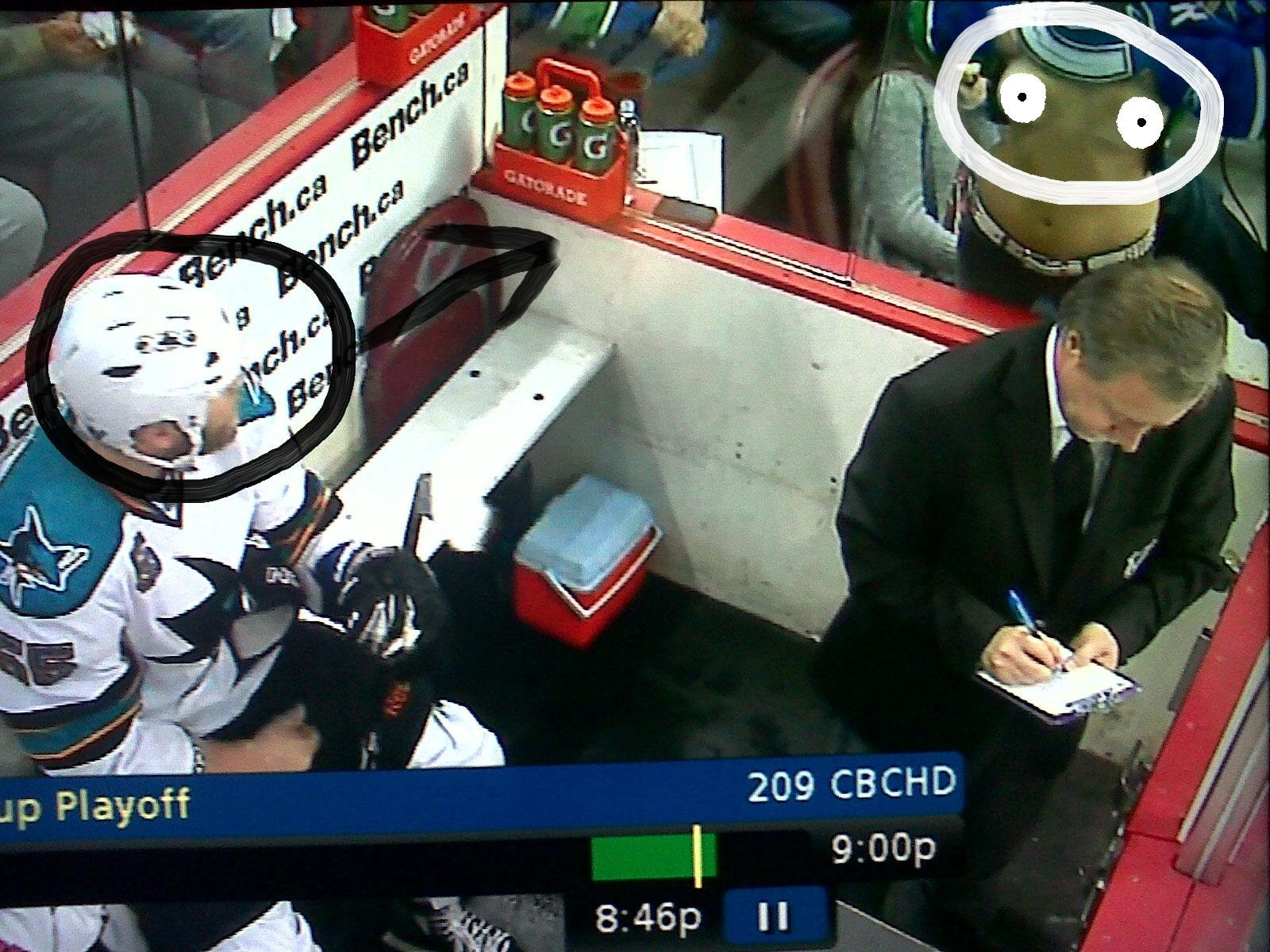 Canucks penalty box flasher chick - 2 part 10