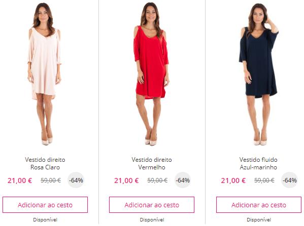 Melhor sítio online para comprar vestidos em saldos