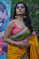 Actress Srushti Dange Latest Pos in Yellow Silk Saree at Saravanan Irukka Bayamaen Tamil Movie Press Meet  0010.jpg