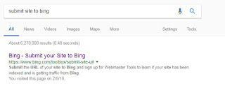 How to submit URL to bing web browser