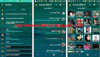 BBM Transparan Work Jailbreak, Kitkat, Jelly Bean, Lollipop Terbaru